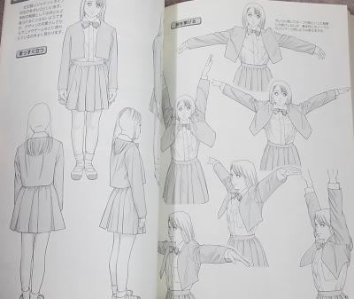 衣服の描き方学校制服少女 (3)