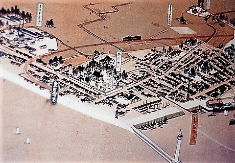 161岩瀬浜〔旧〕鳥瞰図