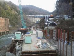 天ヶ瀬ダムと吐出口
