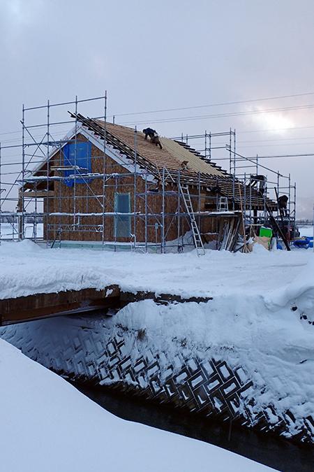 風雪寒さが厳しい冬に建てたからこそ10