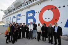ピースボートのおりづるプロジェクト-洋上会議メンバーら