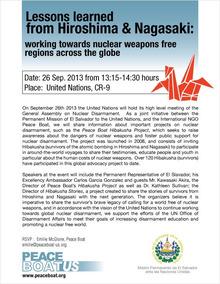 $    ピースボートのおりづるプロジェクト-Event at UN
