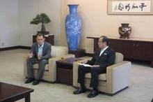 松井市長と川崎さん
