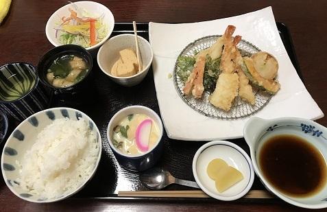 20181208ます梅 2天ぷら定食