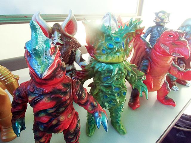 怪獣ソフビたち