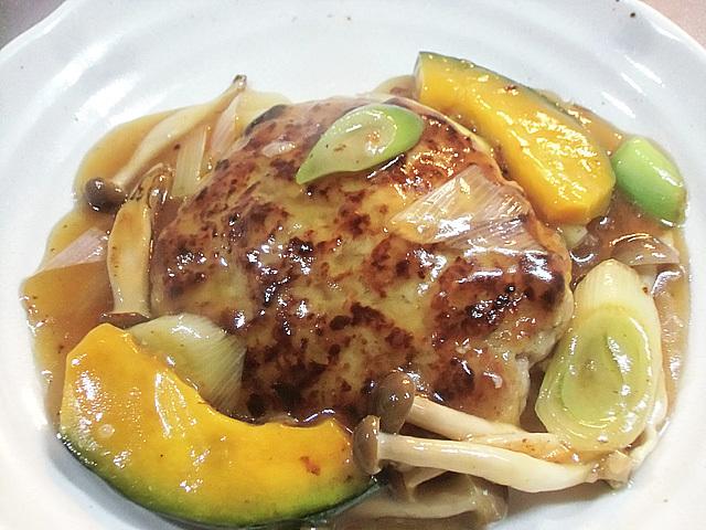 豆腐バーグ野菜餡
