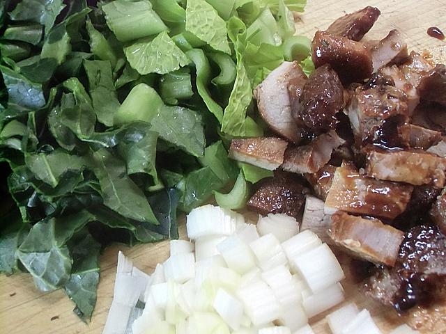 小松菜と煮豚