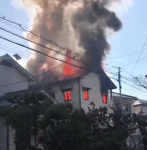 広島市安佐南区長束 火事