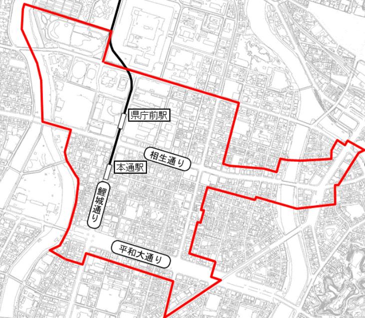 広島市都市再生緊急整備地域「紙屋町・八丁堀」
