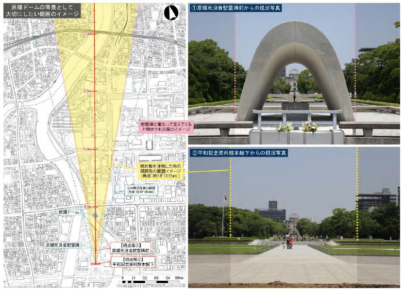 広島市 原爆ドーム 景観 18度