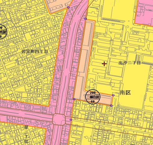 広島市南区出汐~翠 都市計画図