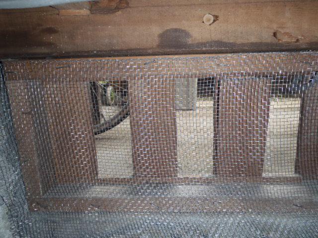 金網にて床下通気口隙間封鎖