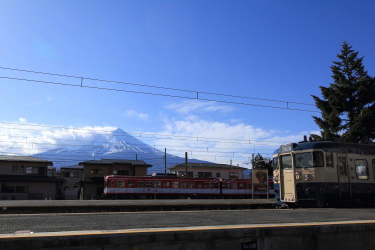 河口湖駅から富士山S