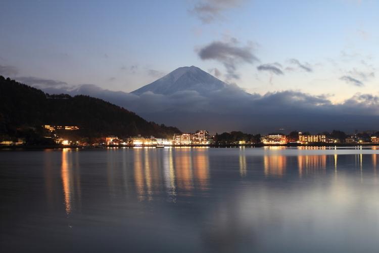 富士山 夕暮れ-S3