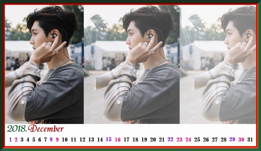 2018 12月のカレンダー