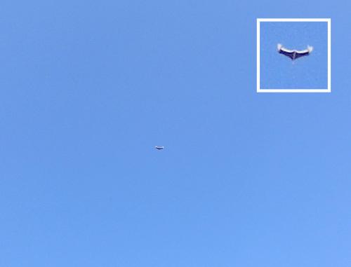 新型無尾翼、飛行中~! その2。