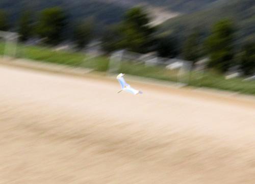 新型無尾翼、飛行中~! その3。