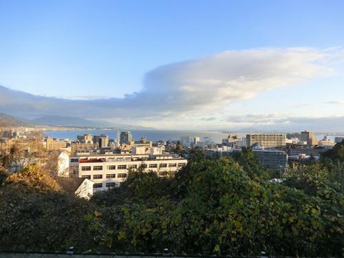 大津PAから見る琵琶湖。