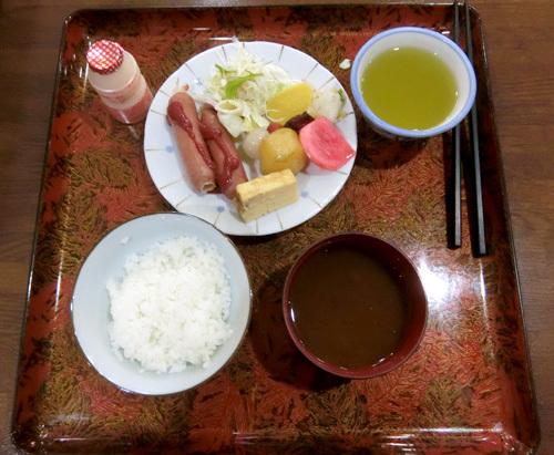 9日の朝食。