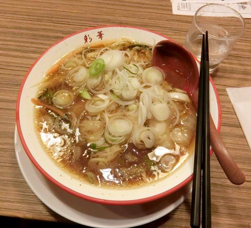 12日の夕食は、奈良の彩香ラーメン!