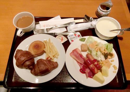 14日の朝食。