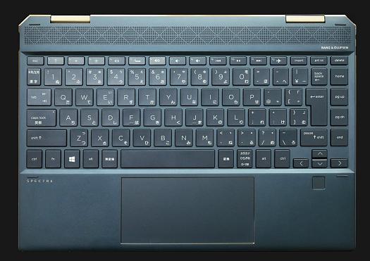 HP-Spectre x360 13-ap0000_ポセイドンブルー_キーボード