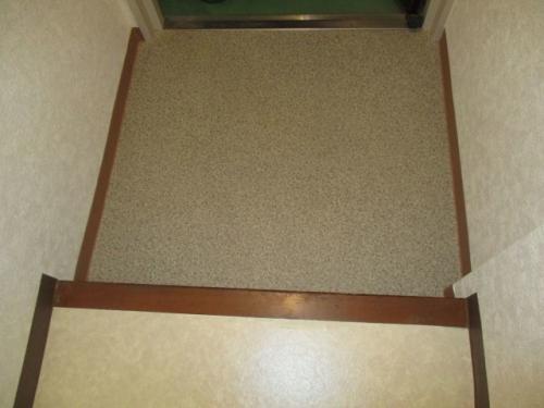 クッションフロア張り替え(玄関)