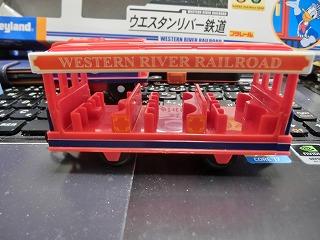 プラレール「ウエスタンリバー鉄道(ミシシッピ号)」 客車