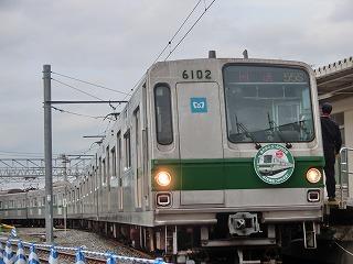 千代田線車両乗車体験で使用されていた6000系