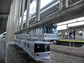 中目黒駅始発列車先頭車寄りからのコラボ撮影