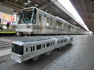 中目黒駅始発列車引上げ方からのコラボ撮影 ②