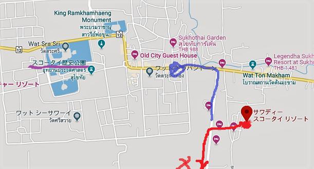スコータイ旧市街map01