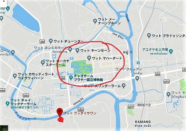 アユタヤ マップ