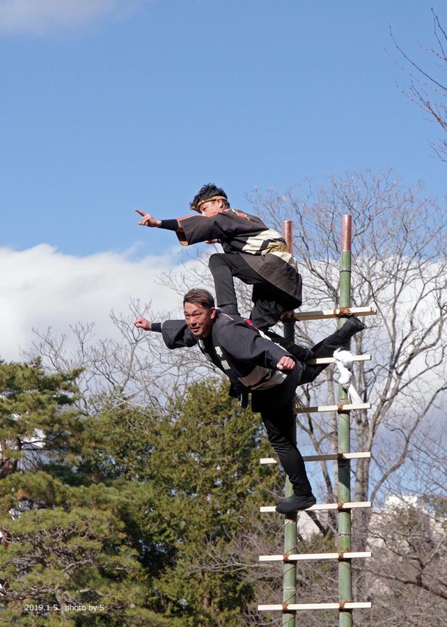 「平成31年いわき市消防出初式・はしご乗り」が行われました! [平成31年1月7日(月)更新]平中央公園9