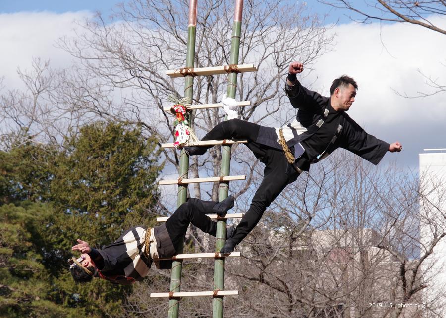 「平成31年いわき市消防出初式・はしご乗り」が行われました! [平成31年1月7日(月)更新]平中央公園10