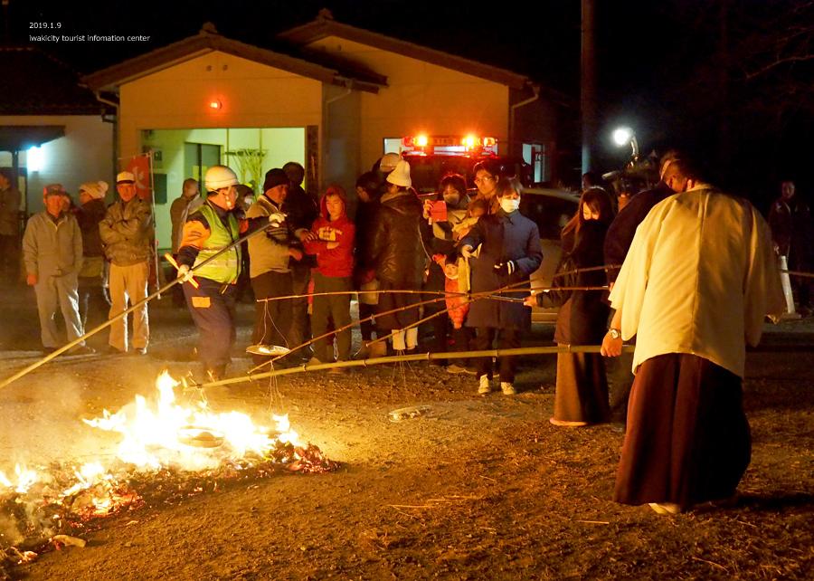 大國魂神社にて「鳥小屋」のお焚き上げが行われました! [平成31年1月9日(水)更新]12