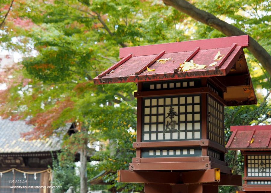 紅葉情報2018 温泉神社 [平成30年11月15日(水)更新]14