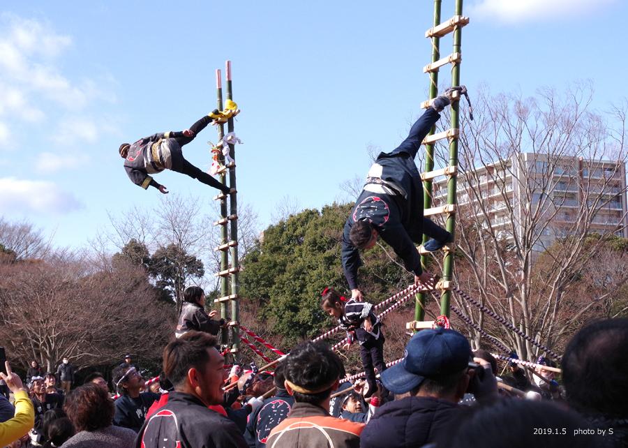 「平成31年いわき市消防出初式・はしご乗り」が行われました! [平成31年1月7日(月)更新]平中央公園11