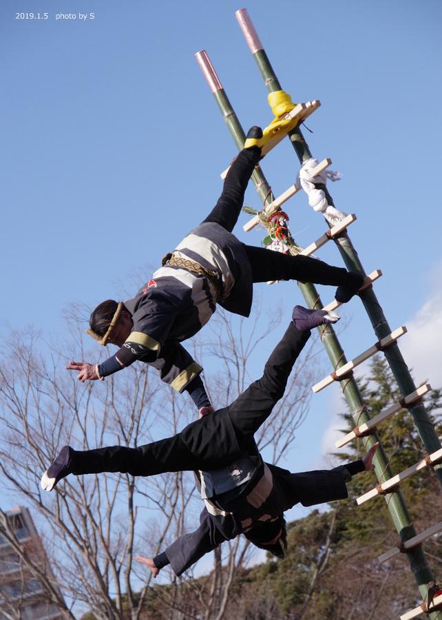 「平成31年いわき市消防出初式・はしご乗り」が行われました! [平成31年1月7日(月)更新]平中央公園12