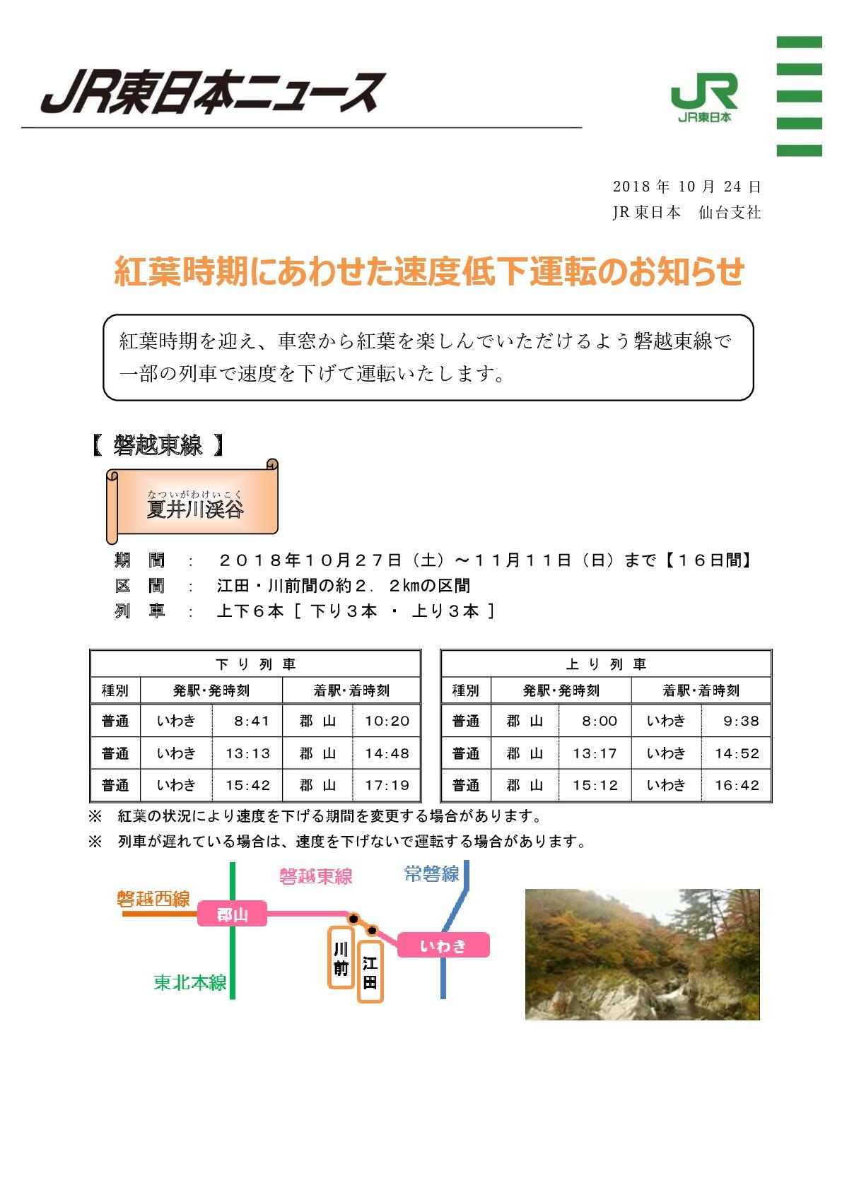 夏井川渓谷徐行運転