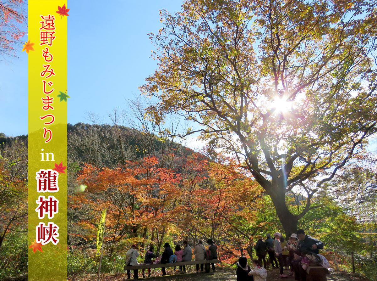 「第14回遠野もみじまつり in 龍神峡」25日(日)開催! [平成30年11月19日(月)更新]1