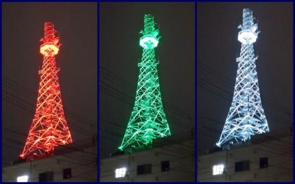 東北電力ライトアップ
