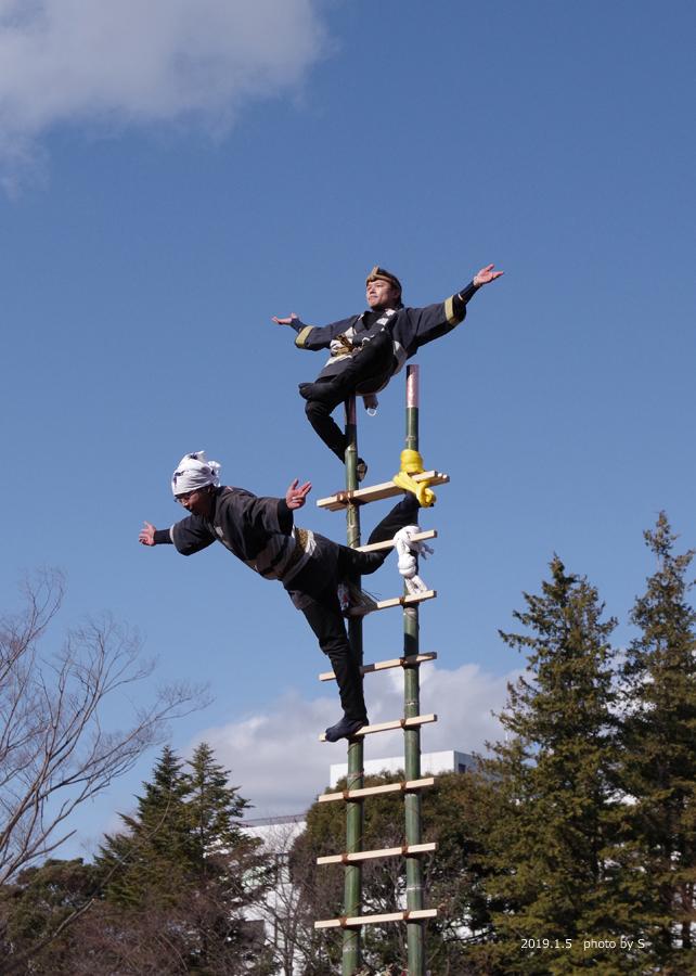 「平成31年いわき市消防出初式・はしご乗り」が行われました! [平成31年1月7日(月)更新]平中央公園14