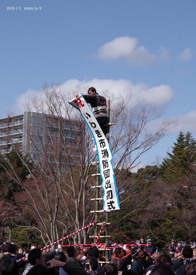 「平成31年いわき市消防出初式・はしご乗り」が行われました! [平成31年1月7日(月)更新]平中央公園6
