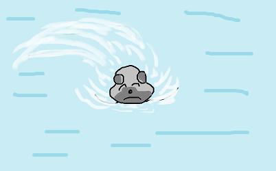コロンの泳ぎ
