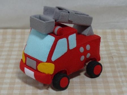 フェルト手芸 消防車 1