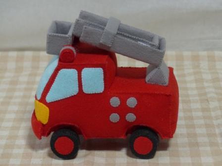 フェルト手芸 消防車 2