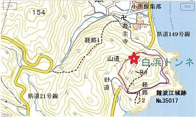 難波江城跡位置図
