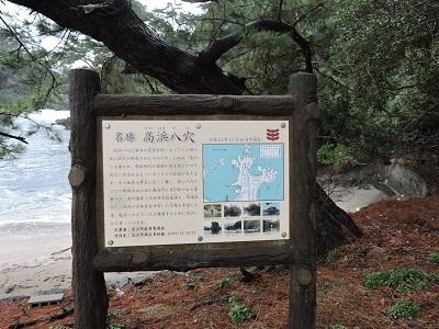 高浜の八穴説明版