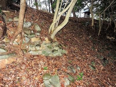 高浜城跡本丸の石垣